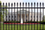 a White House security fence